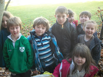 Pupils at St. Aidans Ballintrillick and their compost